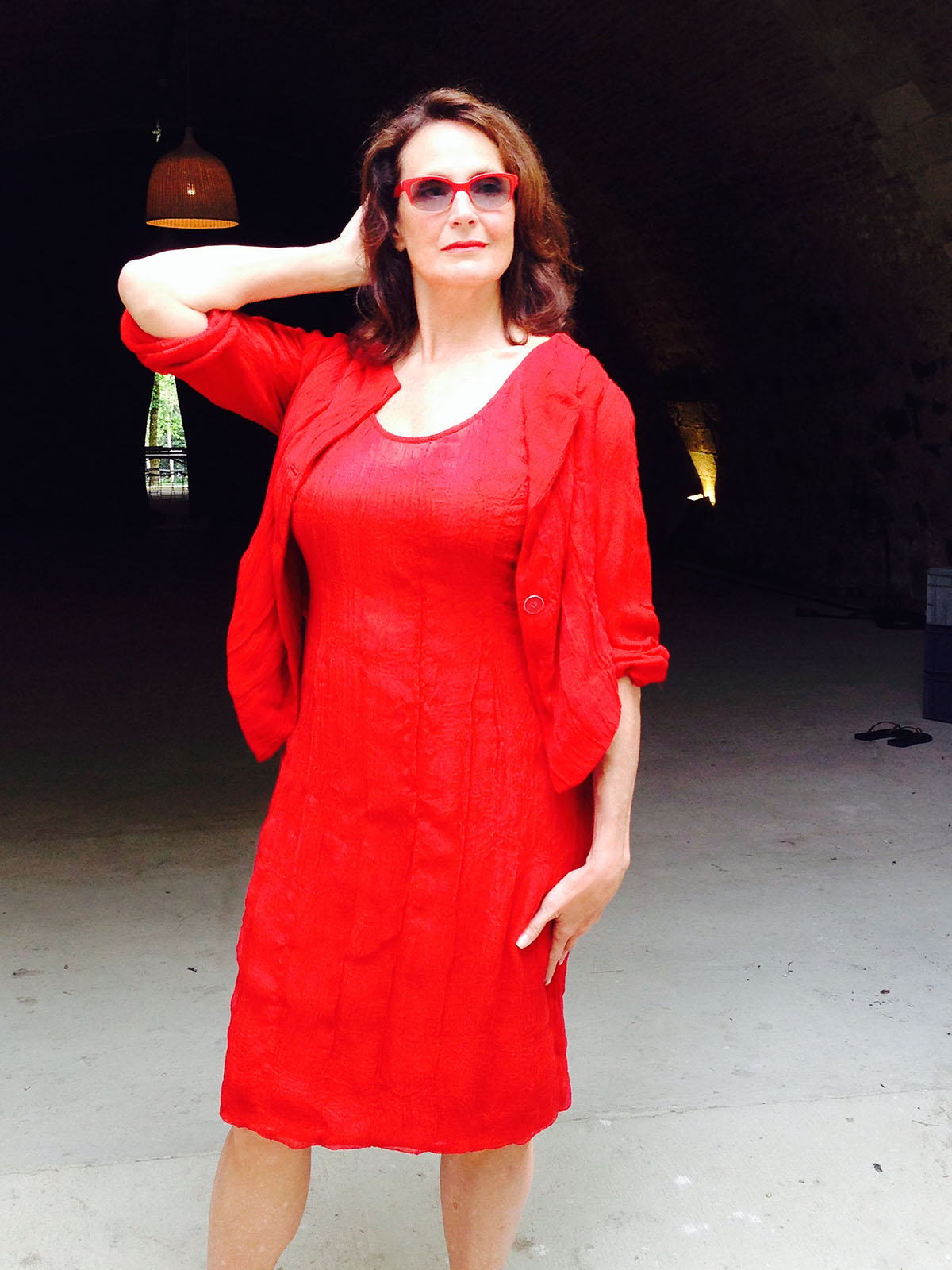 Photo of Dawn Young in red dress